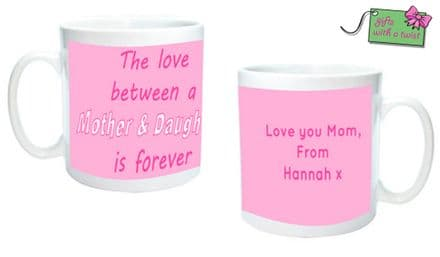 The love between.. quote mug