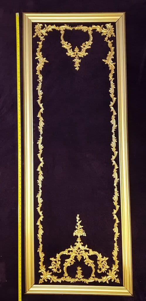 1 DECORATIVE ANTIQUE LOUIS XV STYLE GILT OR  WHITE WALL PANELLING PANEL (No117)