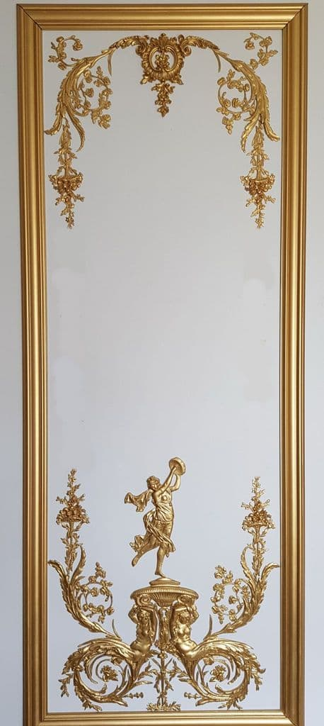 1 DECORATIVE ANTIQUE LOUIS XVI MARIE ANTOINETTE STYLE GILT OR  WHITE WALL PANELLING PANEL (No116)