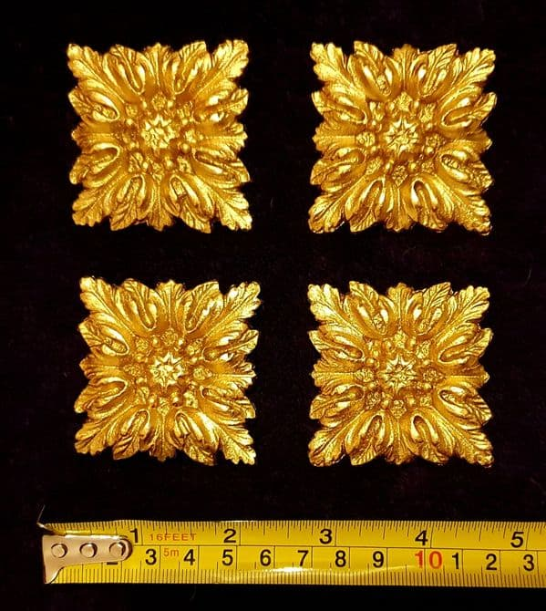 4 MOULDINGS GILT OR WHITE WALL MIRROR DECORATION (No37)