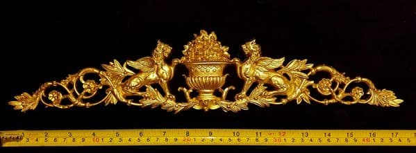 LARGE EMPIRE ONLAY GRIFFIN WALL APPLIQUE MOULDING (No45)