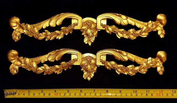 PAIR DECORATIVE MOULDING ANTIQUE ORNATE WALL OR FURNITURE DECORATION (No92)