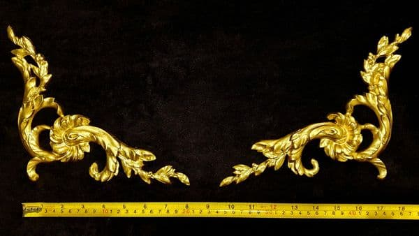 PAIR DECORATIVE MOULDING ANTIQUE STYLE WALL MIRROR DECORATION (No128)