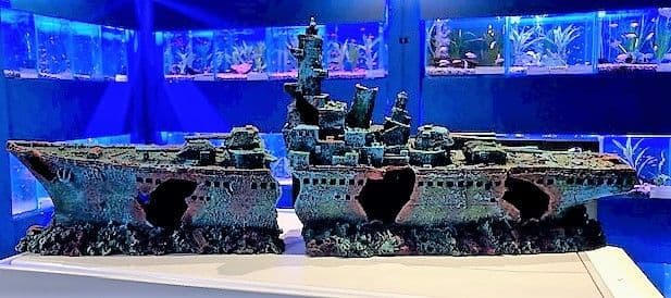 73cm 2 Piece Shipwreck Frigate Big Aquarium Ornament for Large Fish Tanks