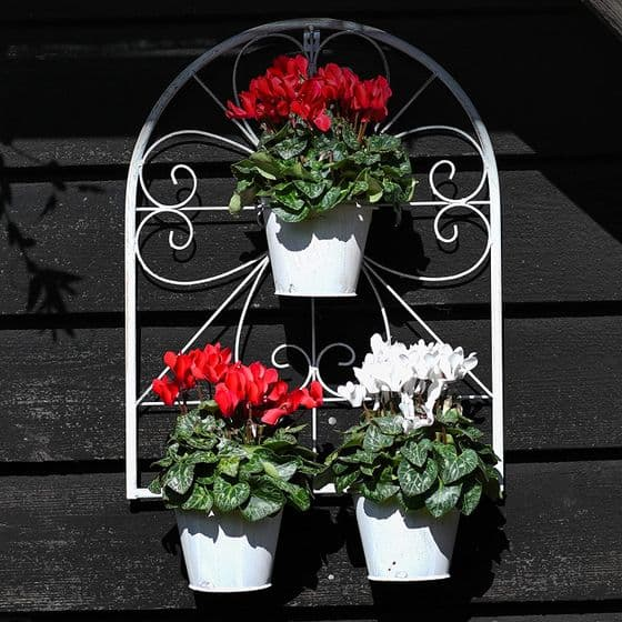 Arched Garden Wall Planter Includes Pots