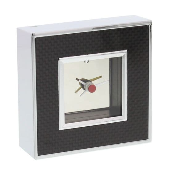 Chrome Plated Stylish Small Desk or Mantel Clock