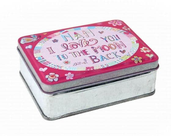 I Love You To the Moon and Back Tin Box