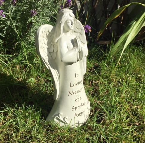 In Loving Memory of a Special Angel Praying Angel Graveside Memorial Ornament