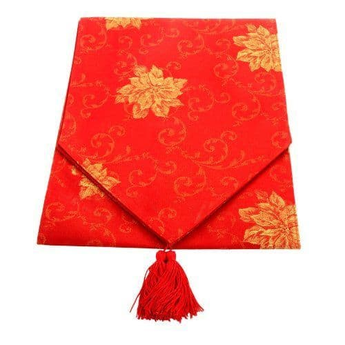 Landon Tyler 180 cm Glitter Table Runner - Red