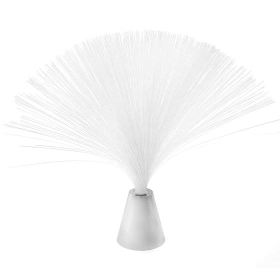 Shiny Silver Fibre Optic Colour Changing Spray Tabletop Light