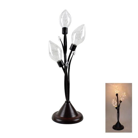 Triple Tulip Bulb LED Decorative Metal Lamp