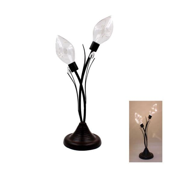 Twin Tulip Bulb LED Decorative Metal Lamp