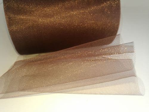 Tulle Roll | Shimmer Tulle E21 Coffee Brown