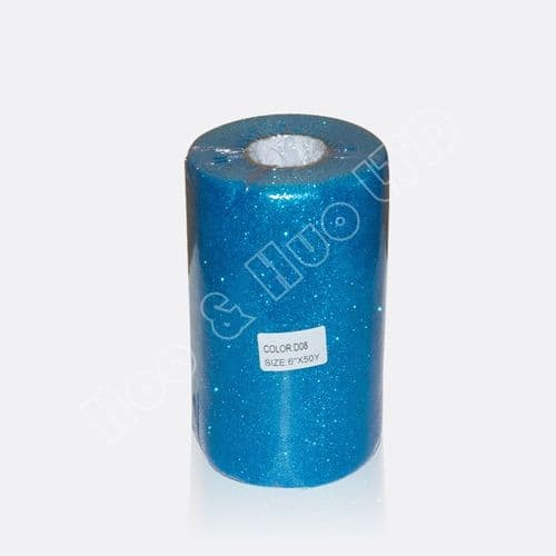 Blue Glitter Tulle Fabric / D08