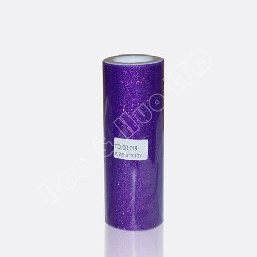 Glitter Tulle Roll Purple /D16