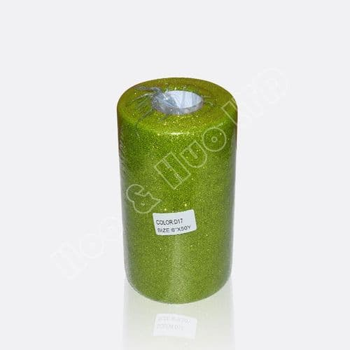 Green Glitter Soft Tulle roll  / D17