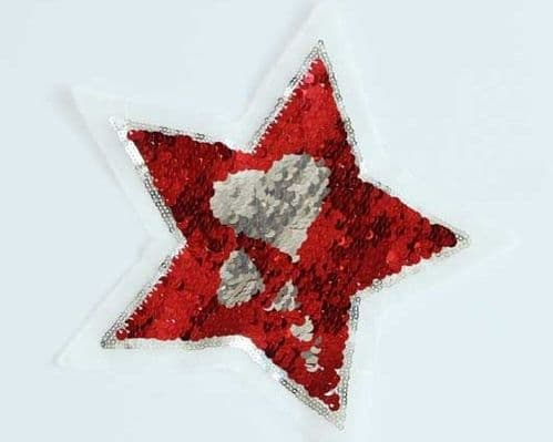 Red and Silver Changing colour Star Motifs