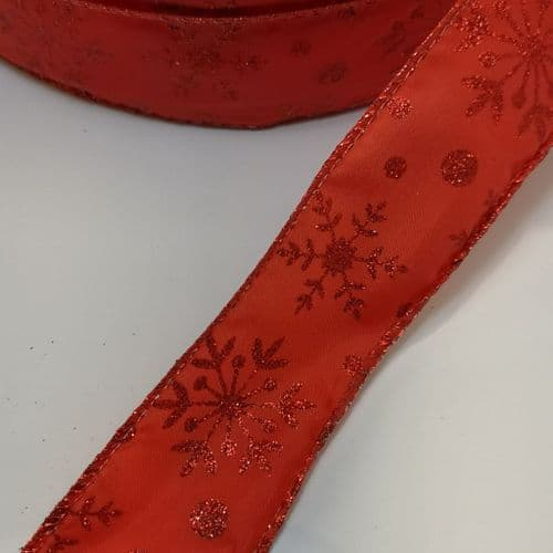 Red Snow Flake 38 mm
