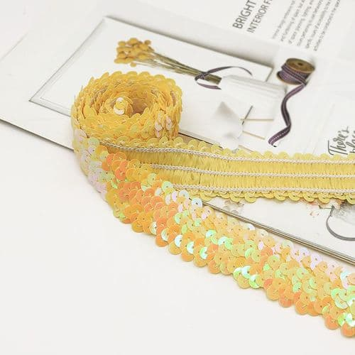 Yellow   Stretch Sequin