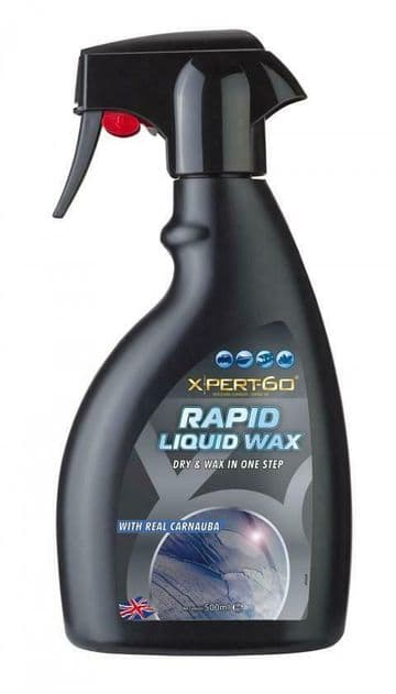 XPERT-60 RAPID LIQUID WAX, Dry & Wax in one-step - Hydrophobic Carnauba - 500ml