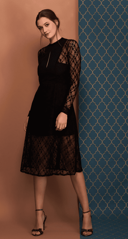 Amelie Lace dress in black