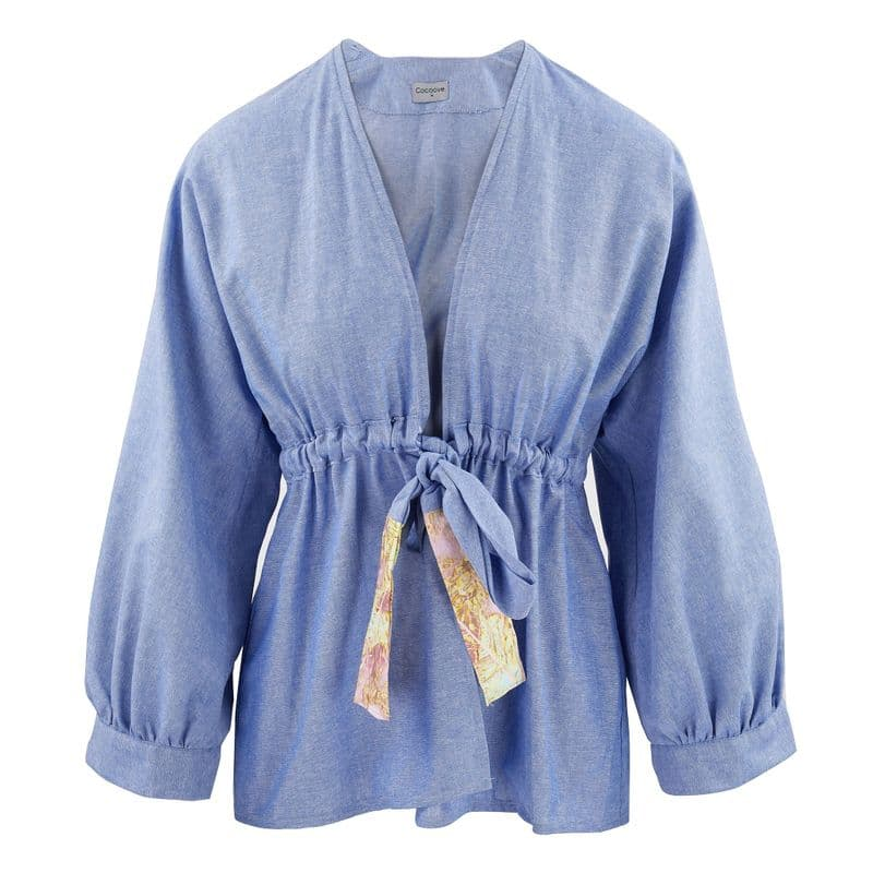 Blossom Casual Jacket in Chambray cotton.