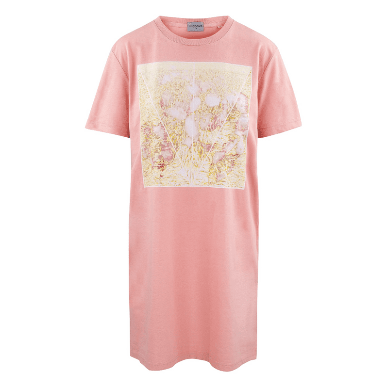 Impressionist t-shirt dress in pink