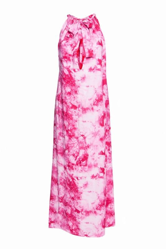 Maxi dress Isla in pink tie dye