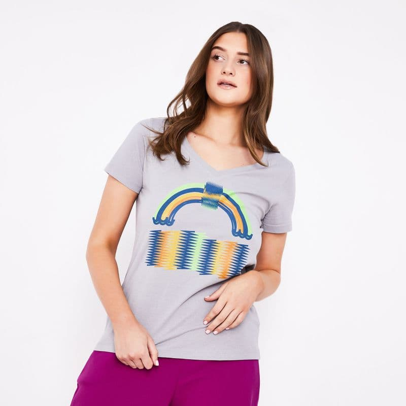 Rainbow fusion organic cotton t-shirt