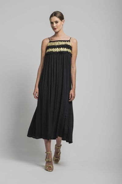 Ray-Ray Dress in Black & Gold