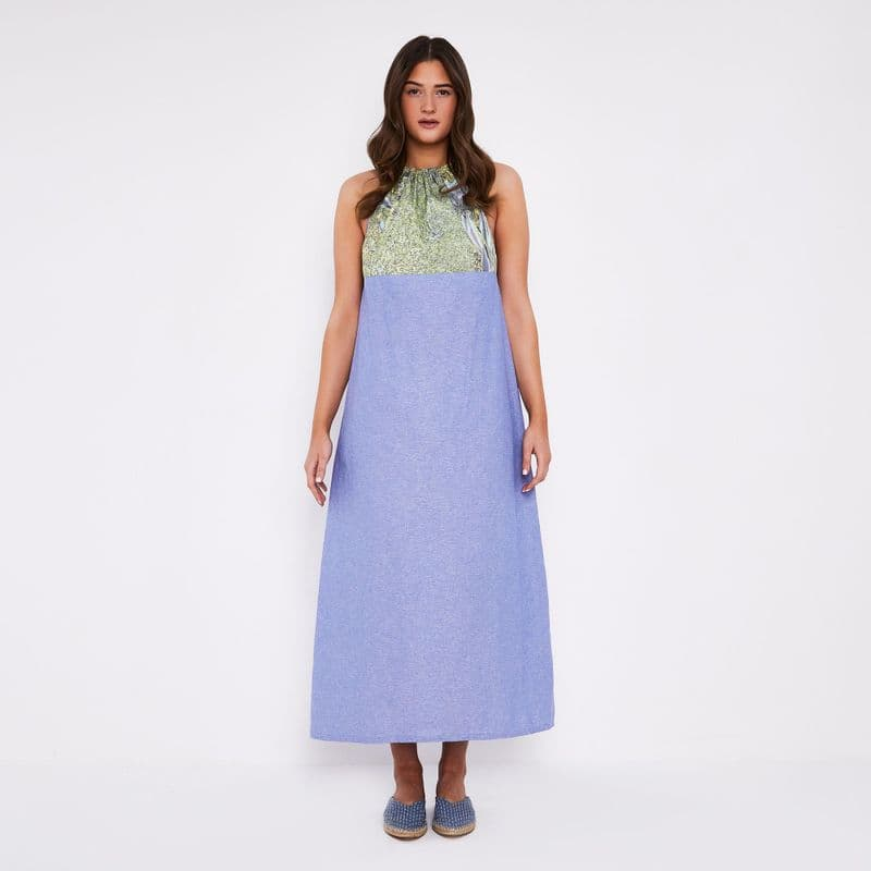 Tallulah halter maxi dress in cotton