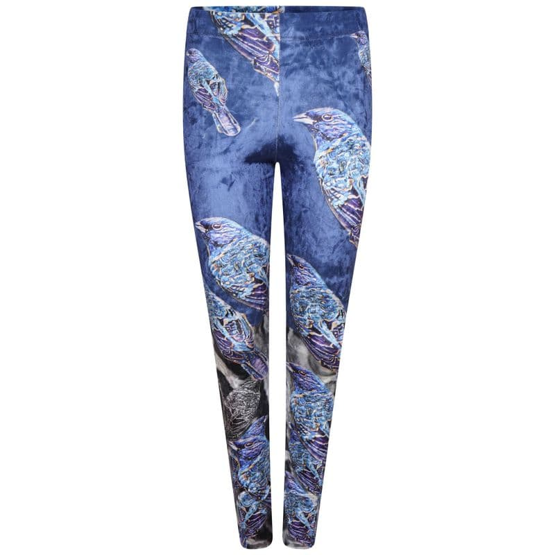 VeVe Leggings in velvet  Midnight Bird print
