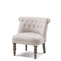 Buttoned Back Upholstered Chair