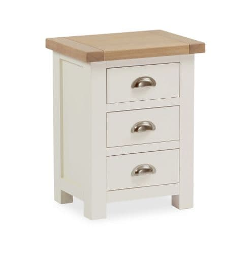 Country Three Drawer Bedside