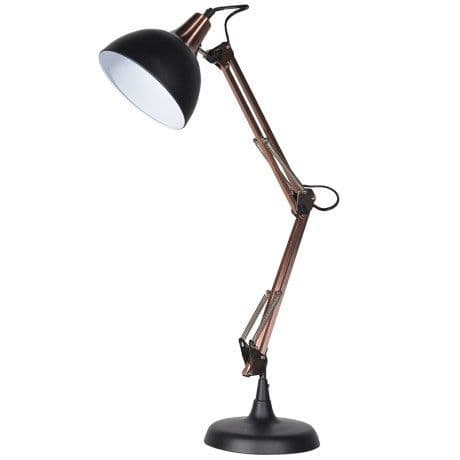 Desk Lamp finished in Copper and Black