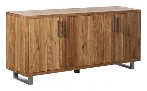 Faro Oak Four Door Sideboard