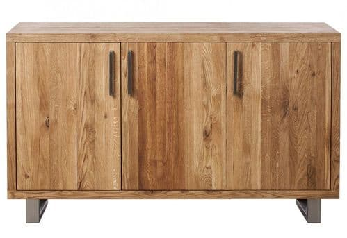 faro Oak three door sideboard