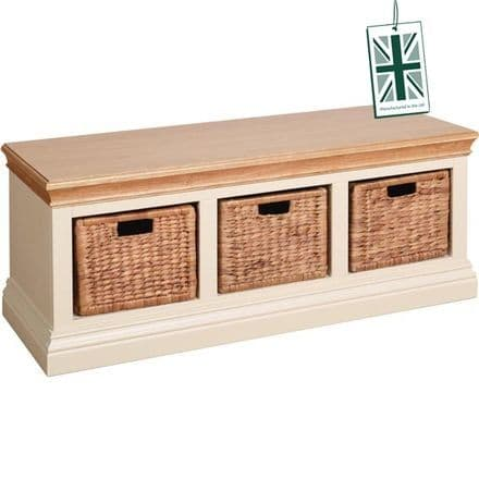 Linton Hall Bench with Baskets