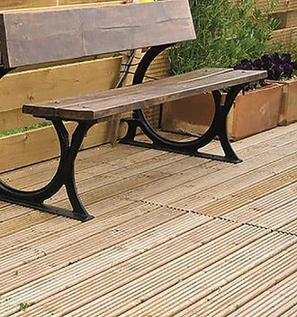 Treated Redwood Timber Decking Board 28 x 145mm (priced per metre)