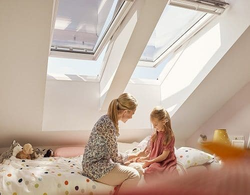 Velux Centre-Pivot Roof Window White Painted