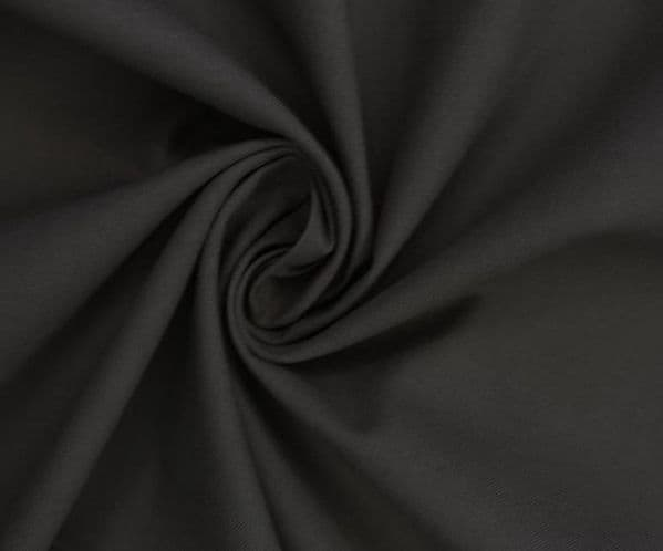 Black Cotton Fabric 141 cm wide