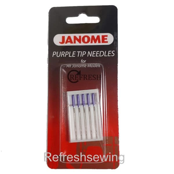 Janome Purple Tip Needles Pack of 5