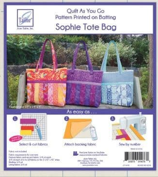 JT1476 Quilt as you go - Sophie tote bag