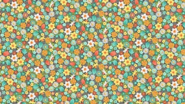 Makower Fabric 100% cotton material spring flowers 2193/t