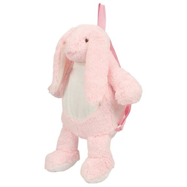 Mumbles Pink Bunny Backpack  - embroider me