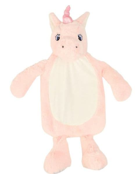 Mumbles Pink unicorn Hot Water Bottle Cover - embroider me