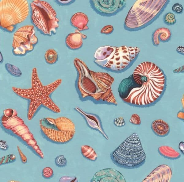 Nutex By The Sea - Sea shells 100% cotton Fabric