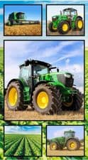 Nutex Farm Machines Green Tractor Collage Panel
