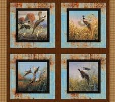 "Nutex Pheasants Forever Cushion Panel Fabric 36"" x 44"""
