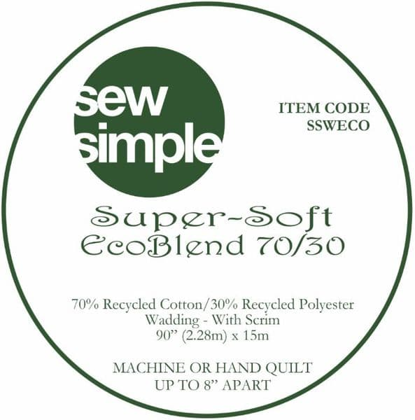 Super-soft Eco-blend 70/30 wadding 92